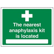 The nearest anaphylaxis kit is located - Large Landscape