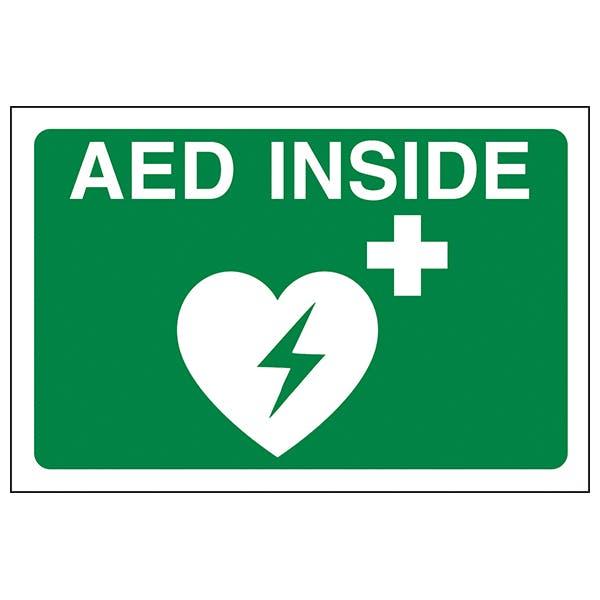 AED Inside - Window Sticker