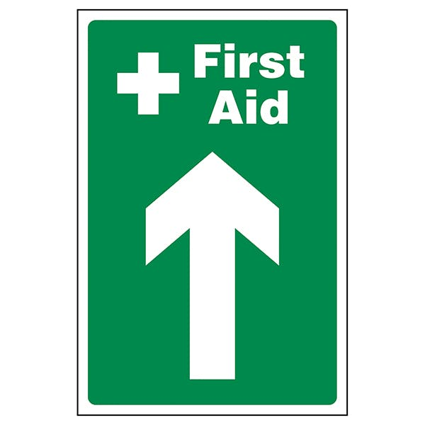 Directional First Aid Signs