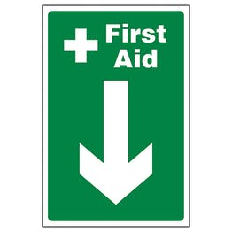 First Aid Arrow Down