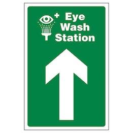 Eye Wash Station Arrow Up
