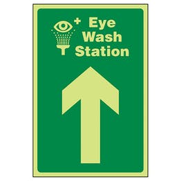 GITD Eye Wash Station Arrow Up