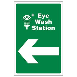 Eye Wash Station Arrow Left