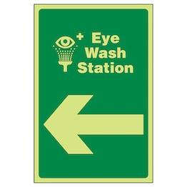 GITD Eye Wash Station Arrow Left