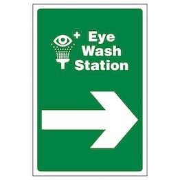 Eye Wash Station Arrow Right