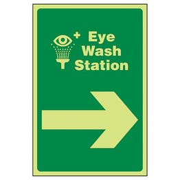 GITD Eye Wash Station Arrow Right