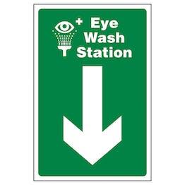 Eye Wash Station Arrow Down
