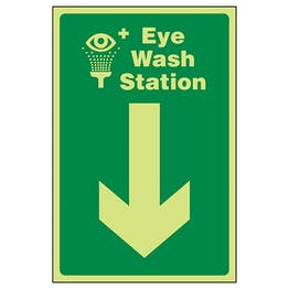 GITD Eye Wash Station Arrow Down