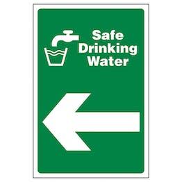 Safe Drinking Water Arrow Left