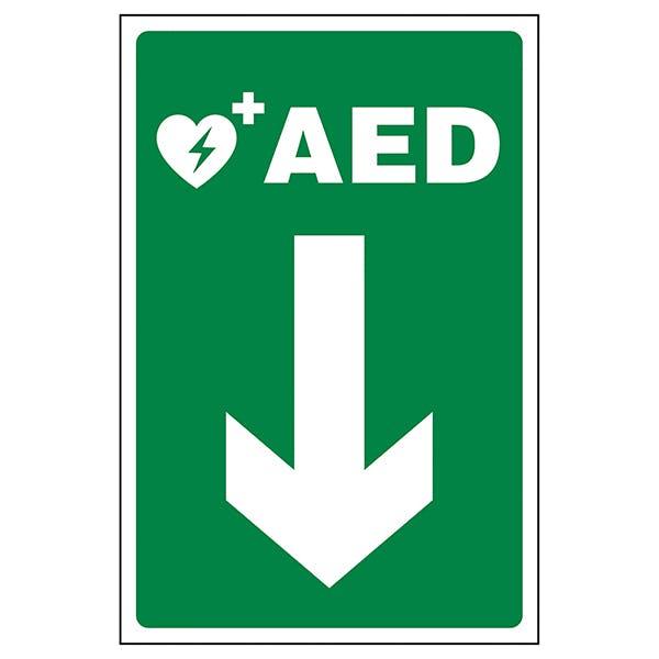 AED Arrow Down