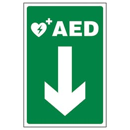AED Arrow Down