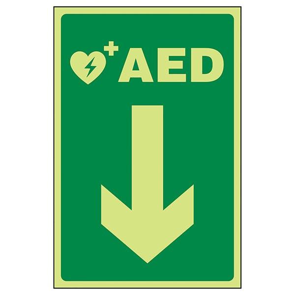 GITD AED Arrow Down