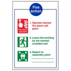 3 Point Fire Action Operate Nearest Fire Alarm