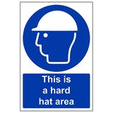 This Is A Hard Hat Area - Portrait