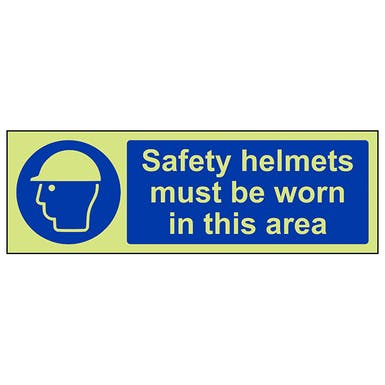 GITD Safety Helmets Must Be Worn In This Area