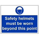 Safety Helmets Must Be Worn - Large Landscape
