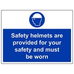 Safety Helmets Provided For Safety Must Be Worn - Large Landscape