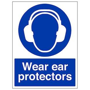 Wear Ear Protectors - Portrait