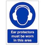 Ear Protectors Must Be Worn - Portrait