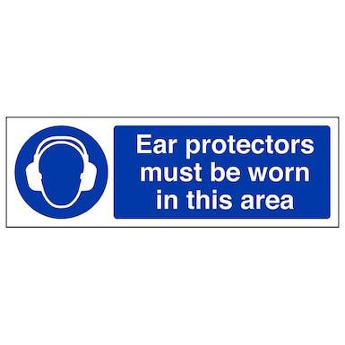 Ear Protectors Must Be Worn - Landscape
