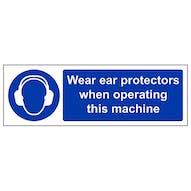 Wear Ear Protectors When Operating - Landscape