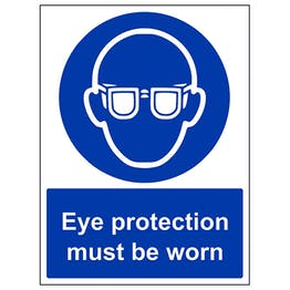 Eye protection must be worn - Polycarbonate