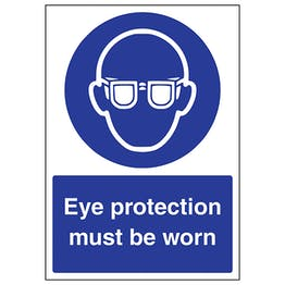 Eye Protection Must Be Worn - A4