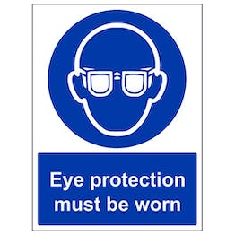 Eco-Friendly Eye Protection Must Be Worn - Portrait