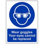 Wear Goggles Your Eyes Cannot Be Replaced - Portrait