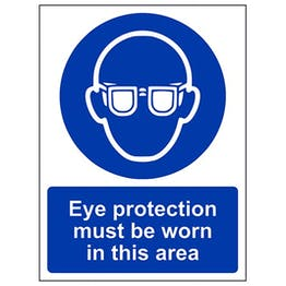 Eco-Friendly Eye Protection Must Be Worn In This Area