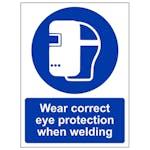 Wear Correct Eye Protection - Portrait