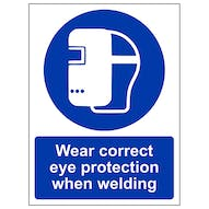 Wear Correct Eye Protection - Portrait