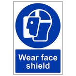 Wear Face Shield - Portrait