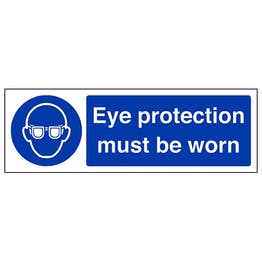 Eye Protection Must Be Worn Landscape- Polycarbonate