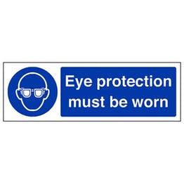 Eco-Friendly Eye Protection Must Be Worn - Landscape