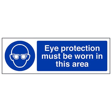 Eye Protection Must Be Worn In This Department - Landscape