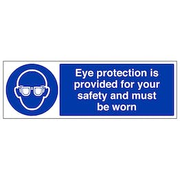 Eye Protection Is Provided - Landscape