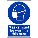 Eco-Friendly Masks Must Be Worn In This Area - Portrait