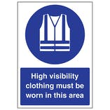 High Visibility Clothing Must Be Worn In This Area - A4