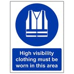 High Visibility Clothing Must Be Worn - Polycarbonate