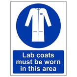 Lab Coats Must Be Worn In This Area - Portrait
