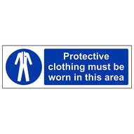 PPE Must Be Worn In This Area - Landscape