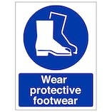 Wear Protective Footwear - Portrait