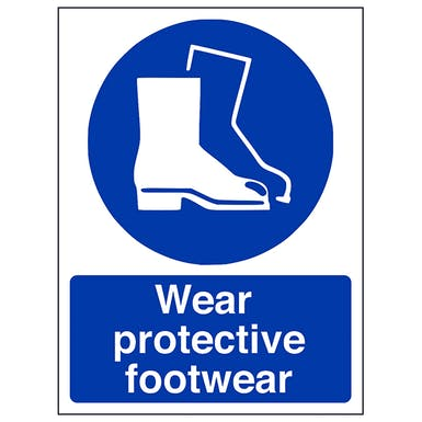 Wear Protective Footwear - Portrait