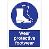 Wear Protective Footwear - A4