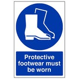 Protective Footwear Must Be Worn - Portrait