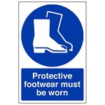 Protective Footwear Must Be Worn In This Area - Polycarbonate