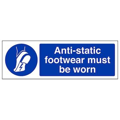 Anti-Static Footwear Must Be Worn