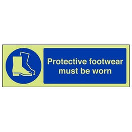 GITD Protective Footwear Must Be Worn