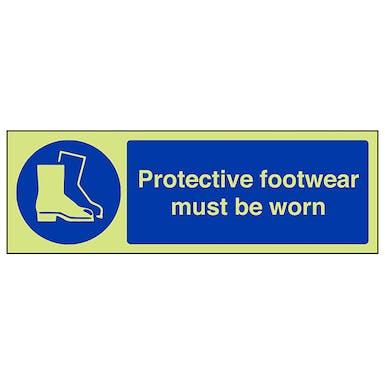 GITD Protective Footwear Must Be Worn